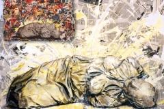 Boceto cuadro Y NO QUIEREN VER de Siro López