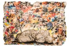Cuadro pintado a óleo sobre papel titulado: Y NO QUIEREN VER de Siro López
