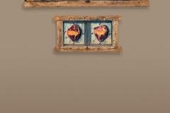 Cuadro pintado a óleo sobre madera titulado: UNA MISMA TIERRA de Siro López