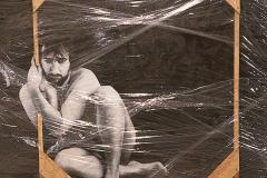 1 Cuadro pintado a óleo sobre madera titulado: ENCUENTRO de Siro López