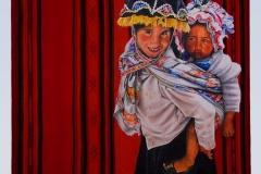 Cuadro pintado a óleo sobre tela titulado: ESPECIE PROTEGIDA de Siro López