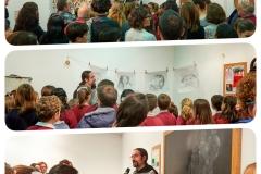 Exposición de Siro López  SolidarizArte, Centro Joaquín Roncal, Zaragoza Foto: Rebeca Carpi