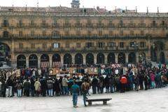 Exposición de Siro López en la Plaza Mayor de Salamanca, 1993