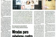 Miradas para rebelarse contra la injusticia Siro López Diario del Altoaragón