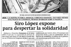 Siro López expone para despertar la solidaridad Jaca