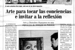 Arte para tocar las conciencias e invitar a la reflexión Siro López