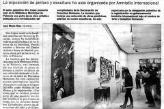 El palentino Siro López muestra su obra dedicada a los Derechos Humanos El Norte de Castilla