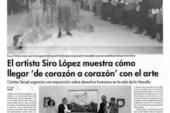 El artista Siro López muestra cómo llegar de corazón a corazón con el arte Diario Teruel