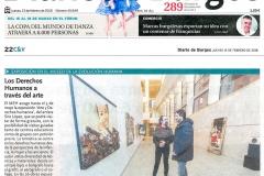 Los Derechos humanos a través del arte Diario de Burgos Museo de la Evolución  Siro López