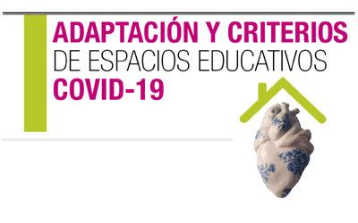 Adaptación y criterios de espacios educativos COVID-19