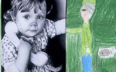 Dibujos de los cuadros realizados por niños/as